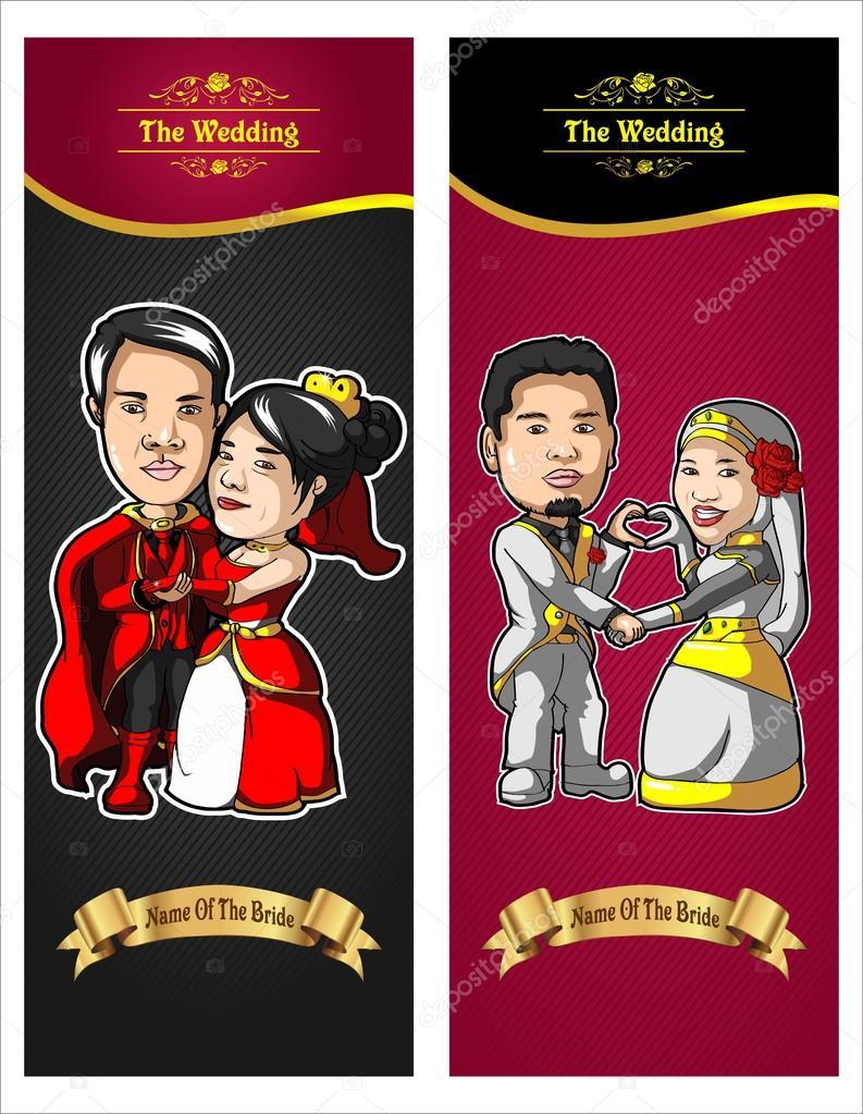 Wedding Caricature — Stock Vector © Beniandreas #64906097