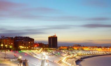 view of the Tyumen embankment