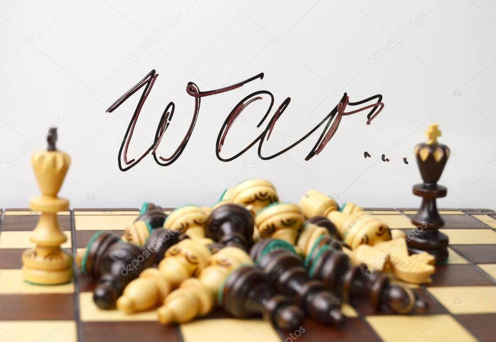 Chess Symbols Of War And Death Stock Photo Feanaro 98887956