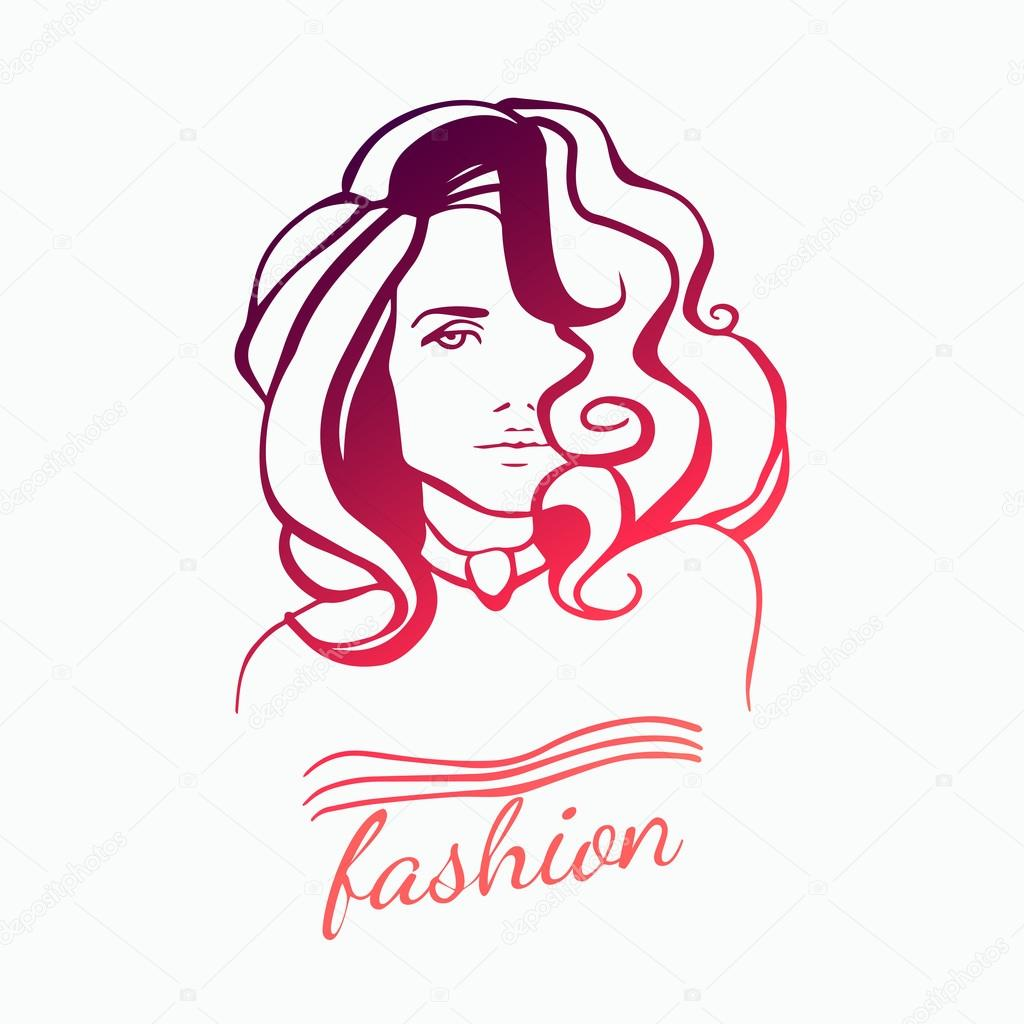 woman face vector logo wwwpixsharkcom images