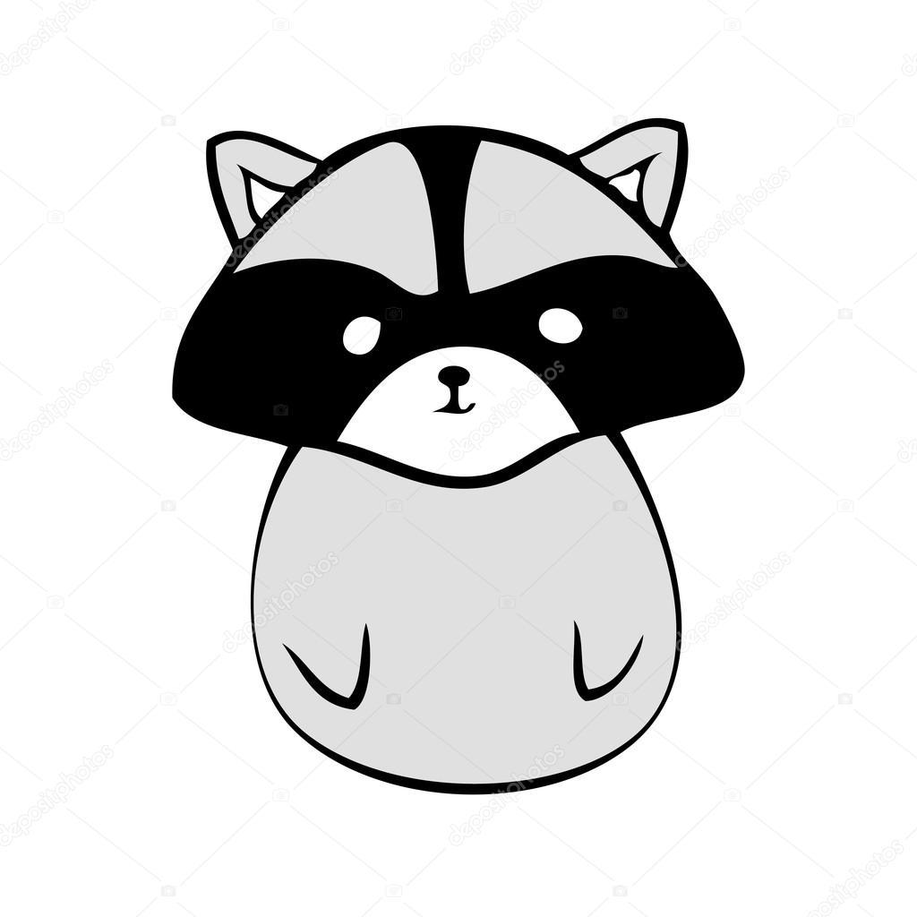 Wasbeer Anime Pictogram Stockvector C Mamamariagood 112158502
