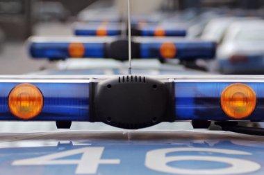Flashing police car