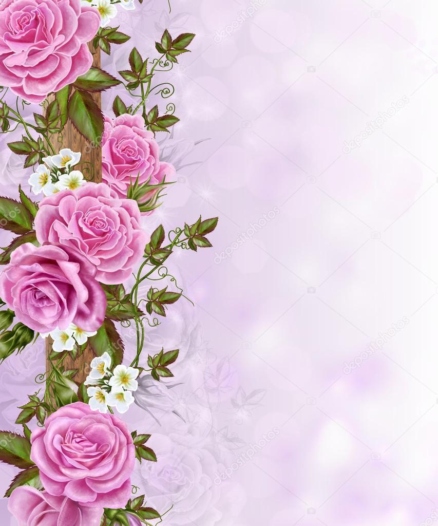 фон для фото розовые цветы