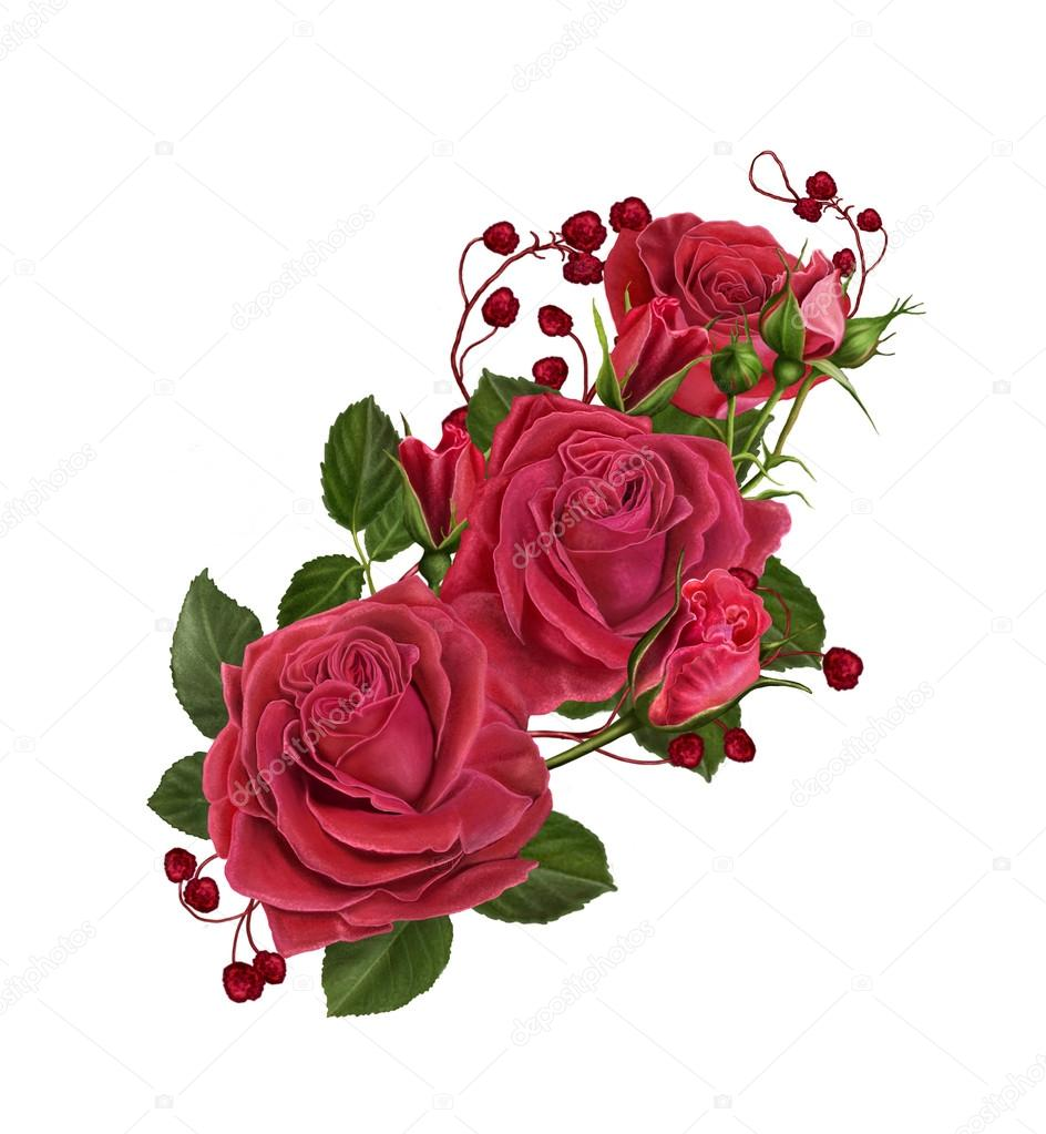 Bouquet Di Rose Rosse Foto Stock Sokolova 99343858