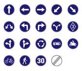Fotografie Verkehrszeichen-Vektor-Symbol