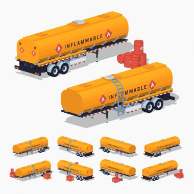 Orange fuel tank