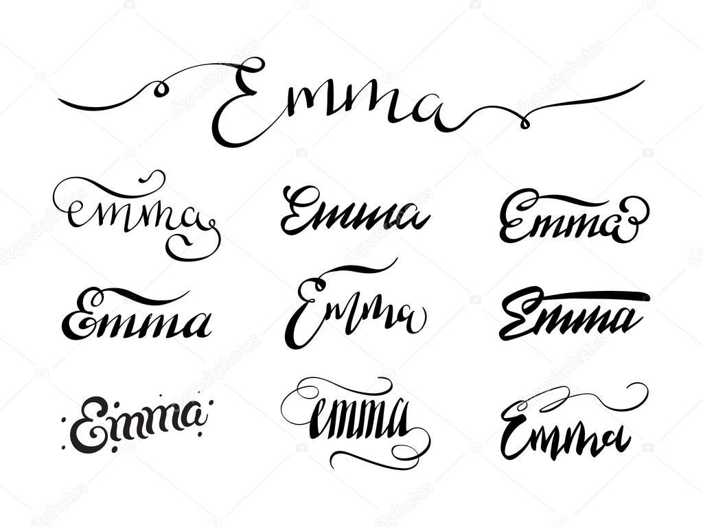 Tatouage Prenom Emma Image Vectorielle Andrew Rybalko C 108247628