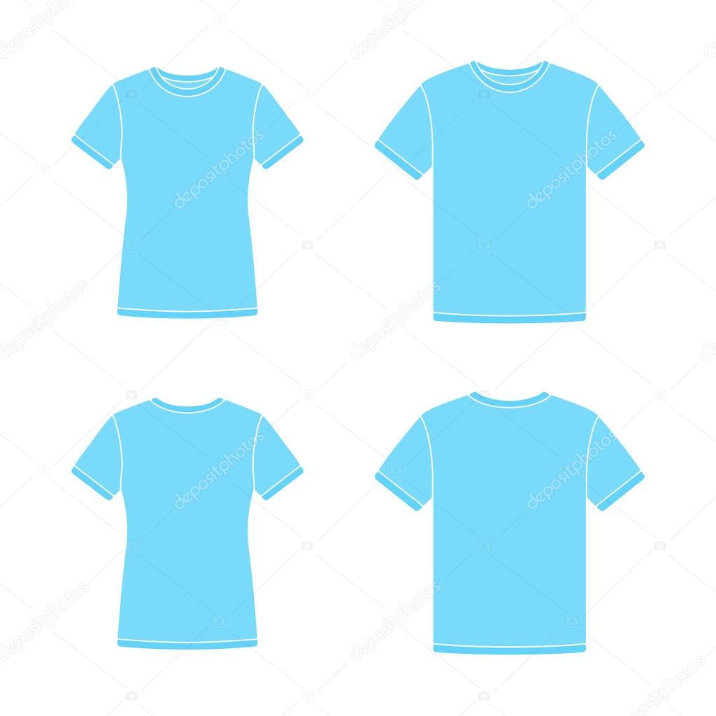 Plantillas de camisetas de manga corta azul — Archivo Imágenes ...