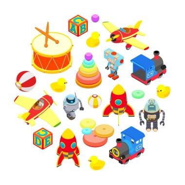 Set of isometric toys