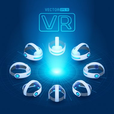 Isometric virtual reality headset