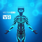 Fotografia Uomo in un casco di realtà virtuale