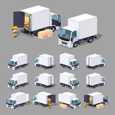Cube World. White truck
