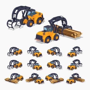 Yellow log loader