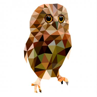 Low poly design, Owl