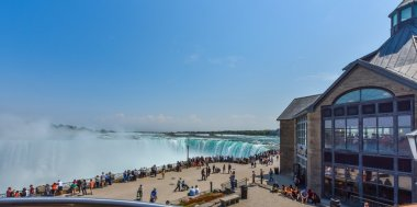 Niagara Falls, Ontario, Canada,  May 9th, 2015.  Summer-like weather draws locals, travellers, and tourists alike.