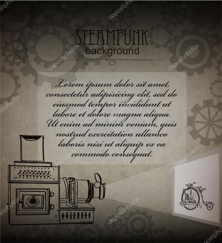Steampunk Style Template Steampunk Design For Card Frame Steampunk