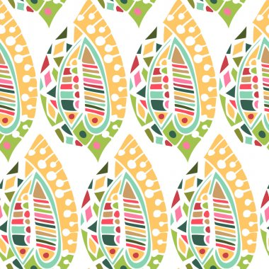 Seamless pattern in ethnic style with geometric pattern. Template ethnic design for card