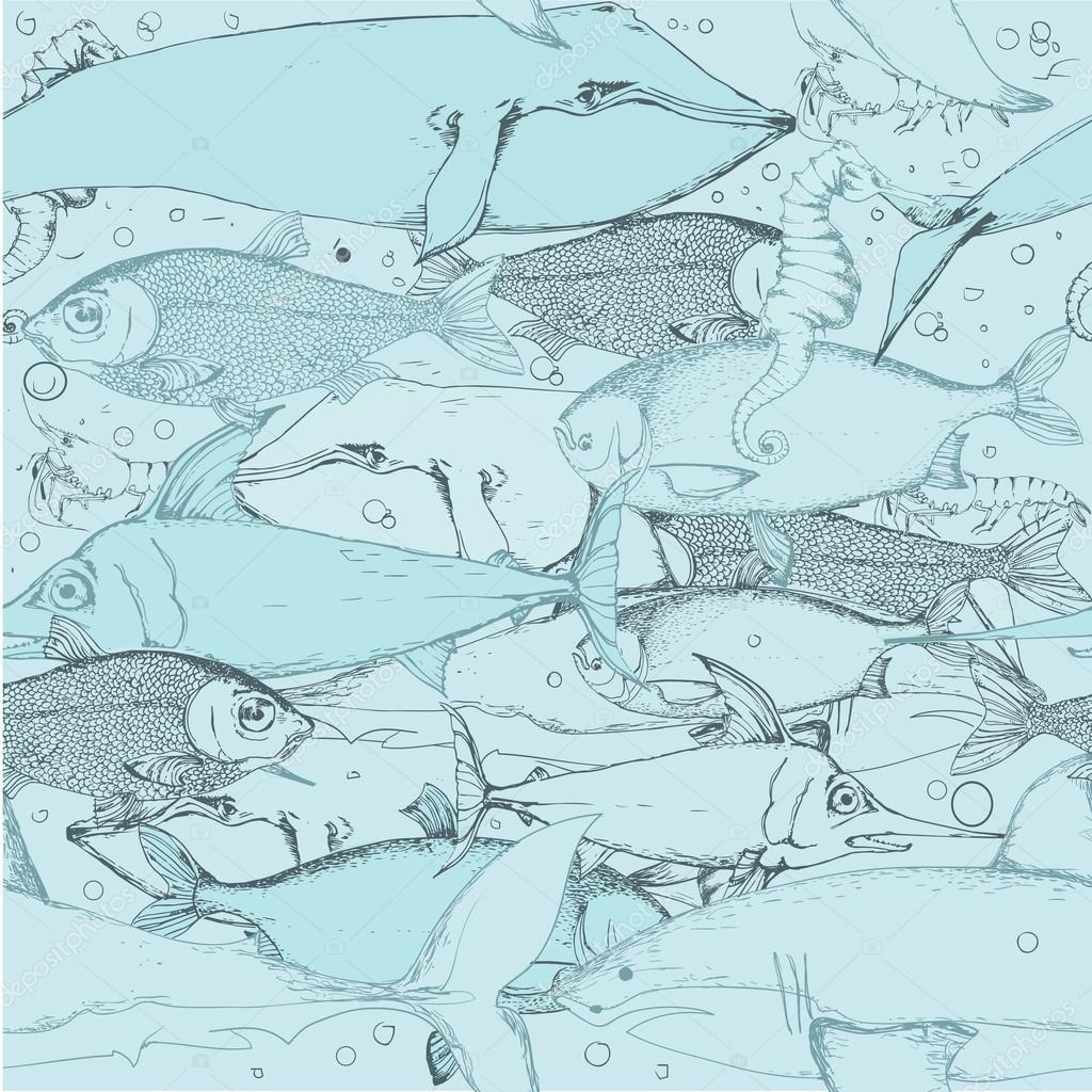 seamless fish pattern