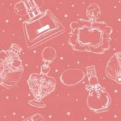 Fotografie seamless pattern with perfumes