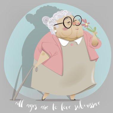 Old woman cartoon character