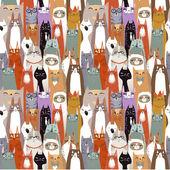 Lustige Cartoon nahtlose Katzenmuster