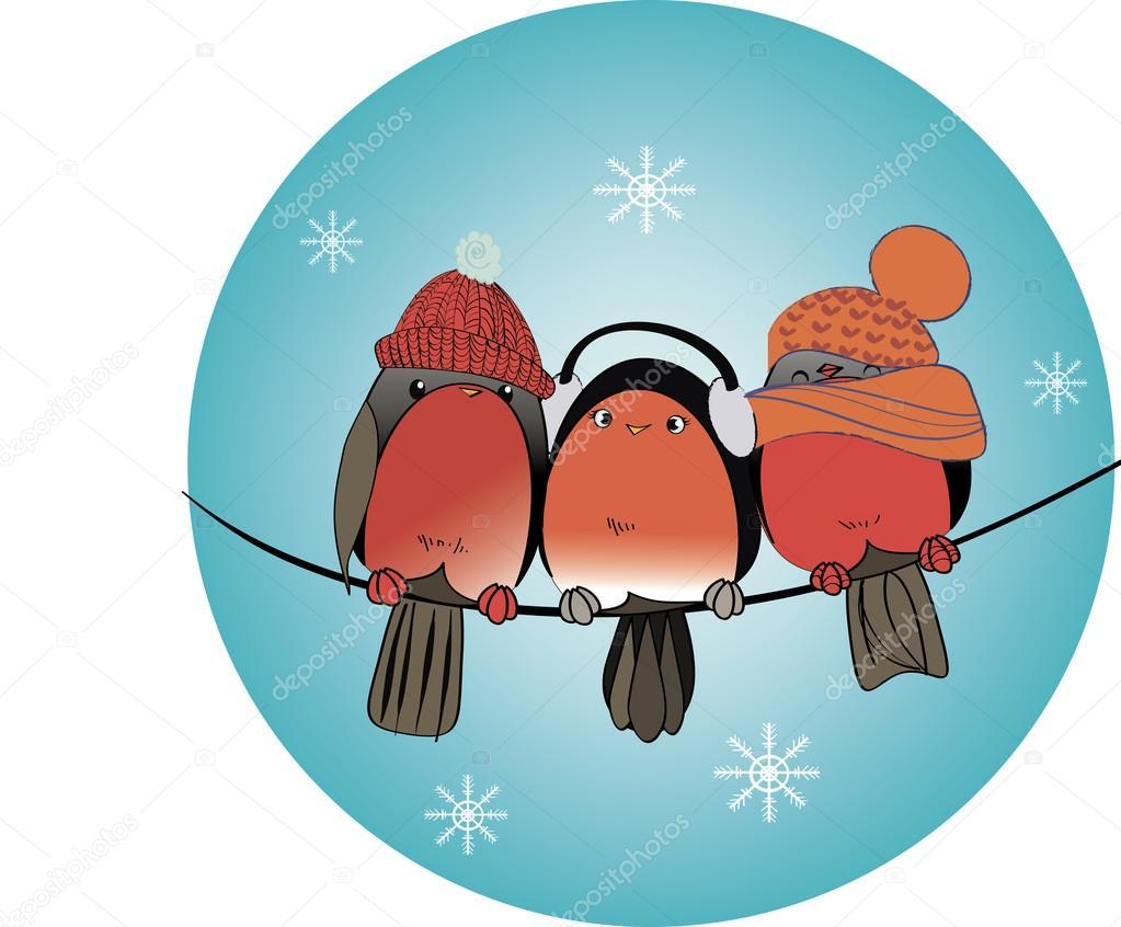 Картинки смешные снегири, анимация