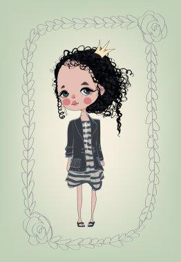 cute fashion girl.