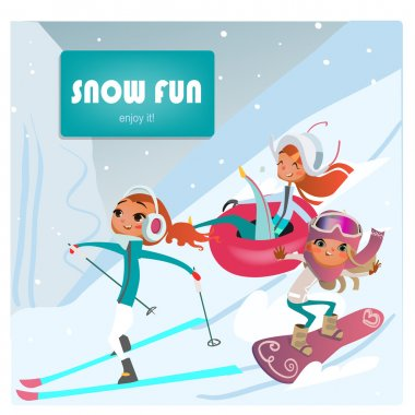 girls making winter sports