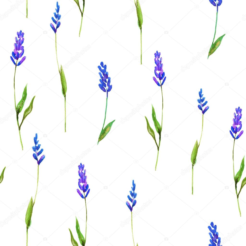 Beautiful seamless floral watercolor pattern