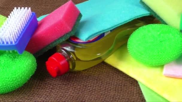 Törlőkendő, színes szivacs a mosás, kék, tisztító kefe