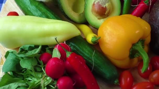 a különböző friss bio zöldség csendélet