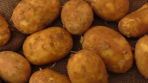Syrové brambory na rustikální zkřížili pozadí