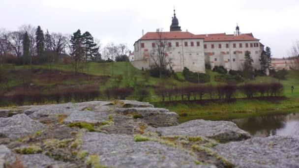 hrad s muzeem, bazilika St. Prokopa a kláštera, města Třebíč (Unesco, nejstarší osídlení středověku žid komunity ve střední Evropě), Morava, Česká republika, Evropa