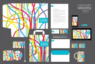 Color corporate identity template design