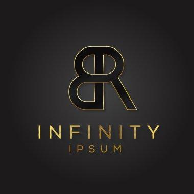 Minimal letter symbol