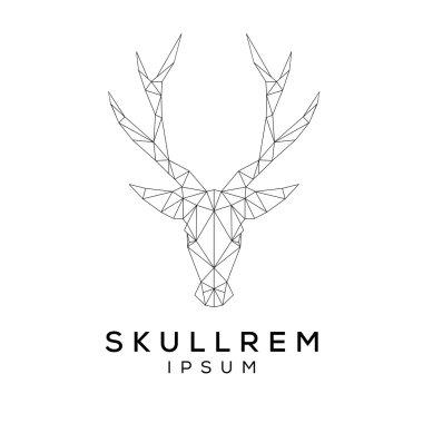 Deer face logo template