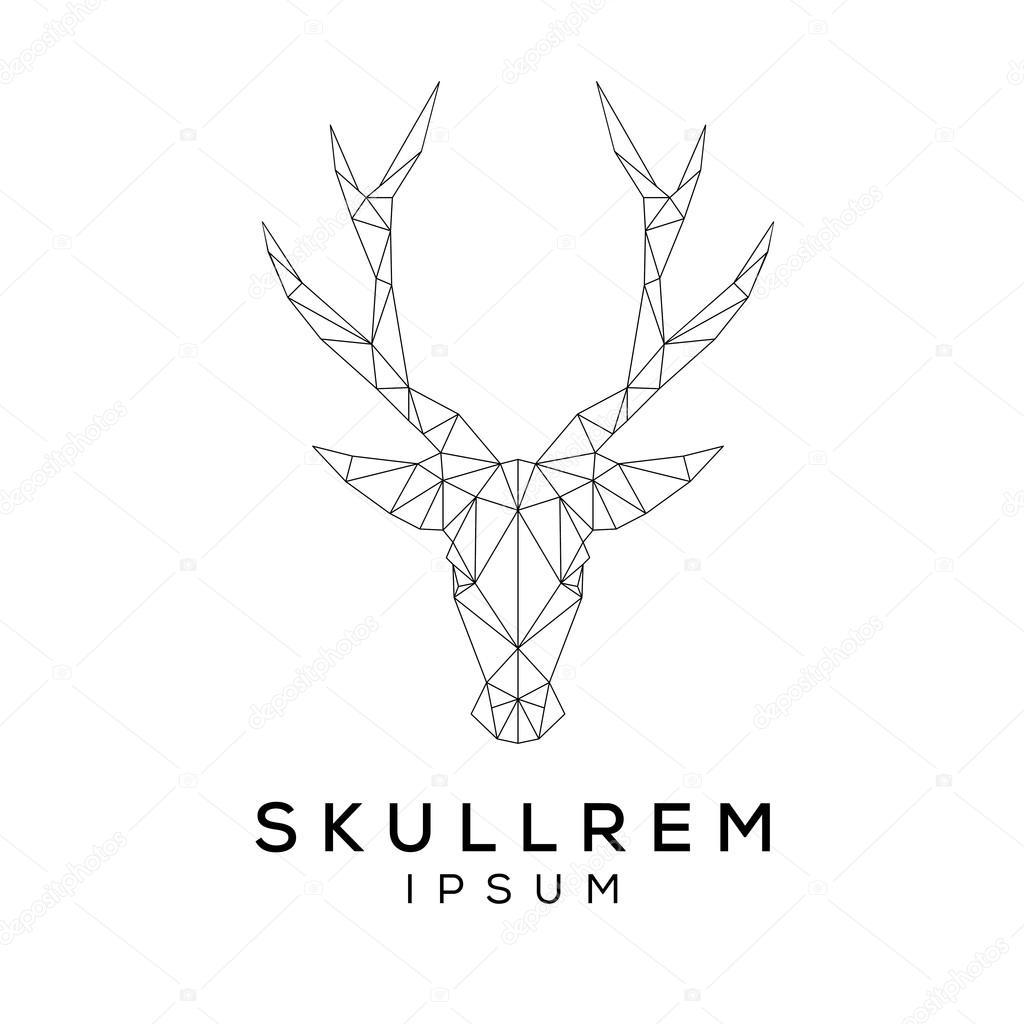 deer face logo template stock vector ballakornel 86004550