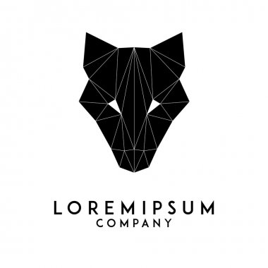 Fox / wolf head logo template
