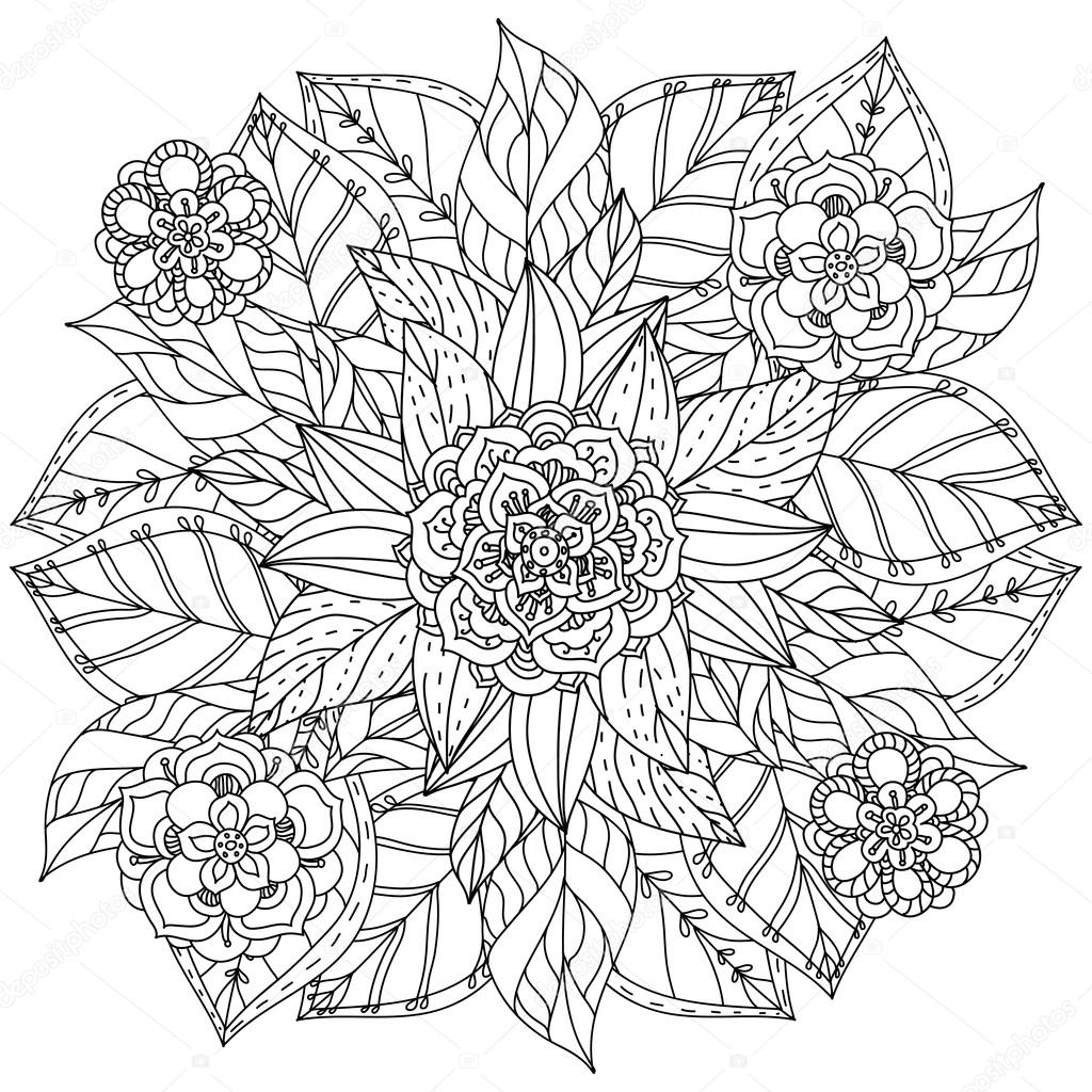 Coloring Book Antistress Style Picture Stock Vector C Mashabr