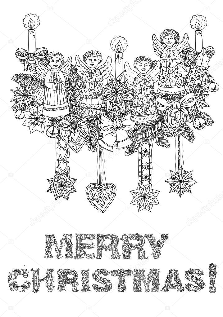 Imágenes: letras de feliz navidad para colorear | Feliz Navidad ...