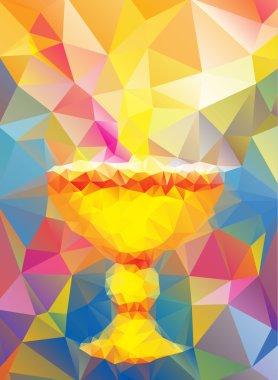 baptism symbol in triangular style