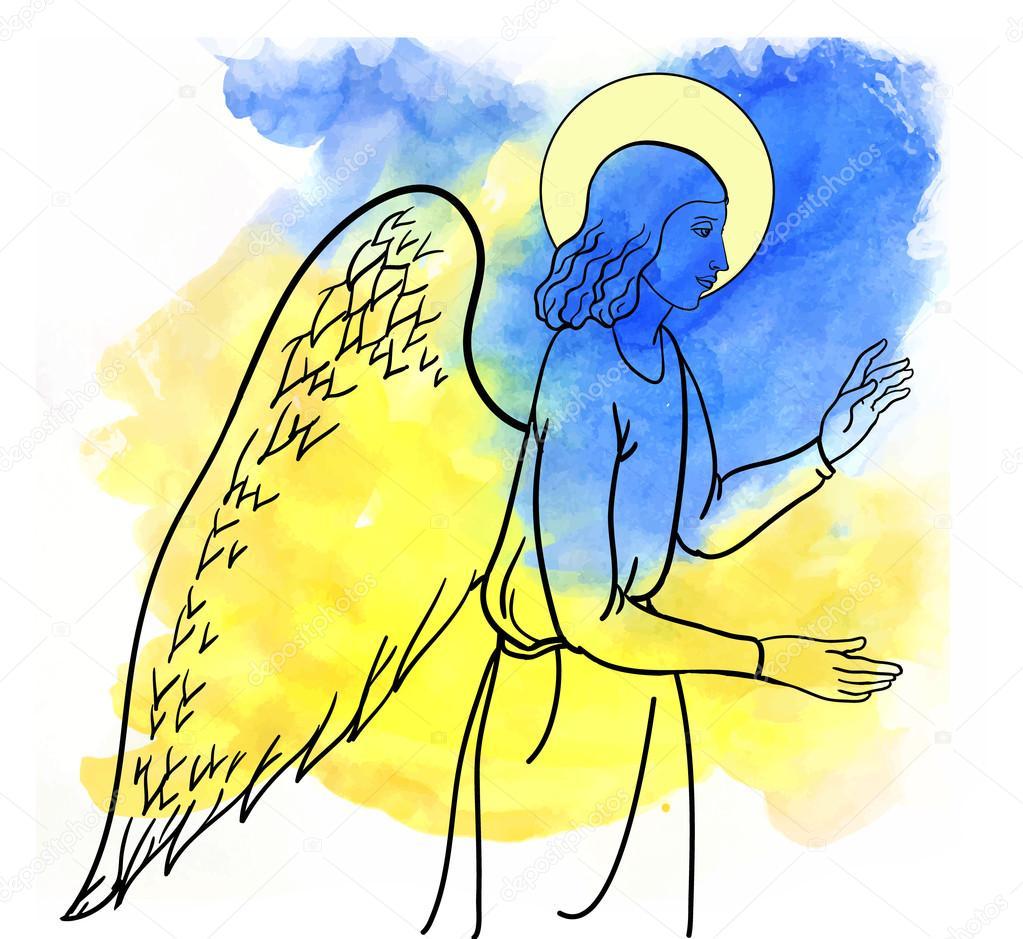 angel  blesses