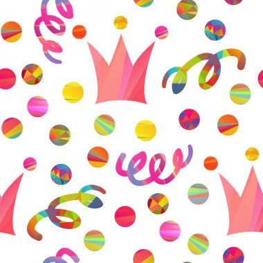 seamless pattern with carnival crown