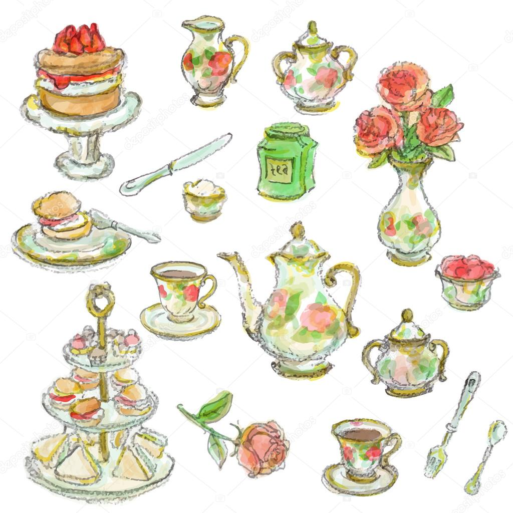 tea time scrapbook set