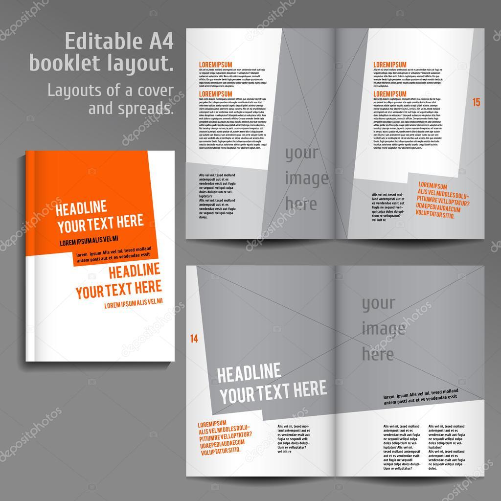 A4-Buch-Layout-Design-Vorlage — Stockvektor © mashabr #76716783