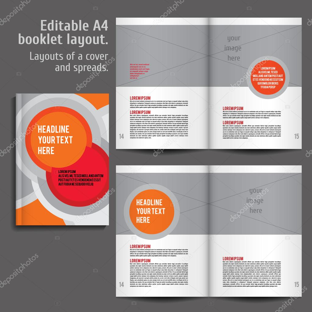 Moderno Vector Resumen folleto, informe o folleto plantilla de ...