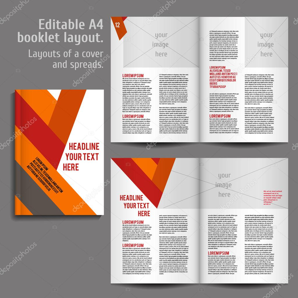 A4 Book Layout Design Template Stock Vector C Mashabr 80759262