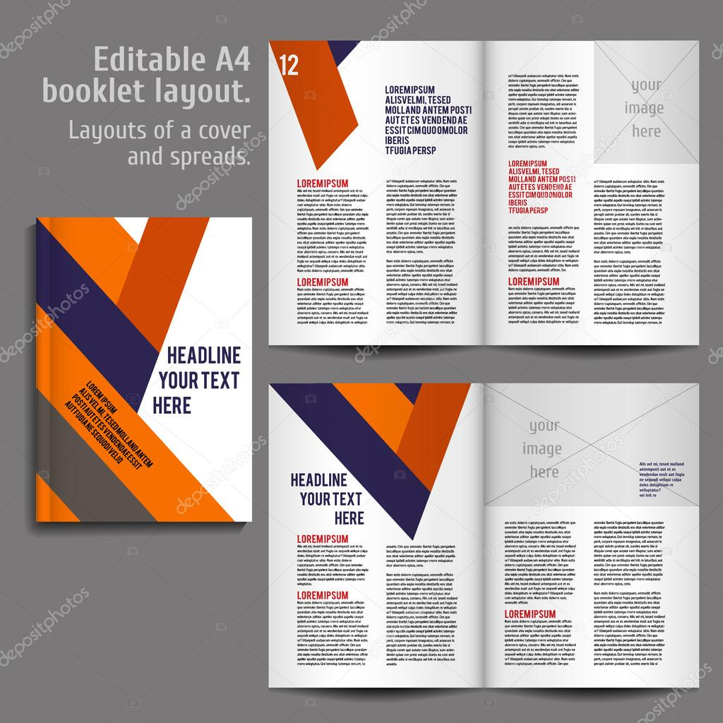 a4 book layout design template stock vector mashabr 80759460
