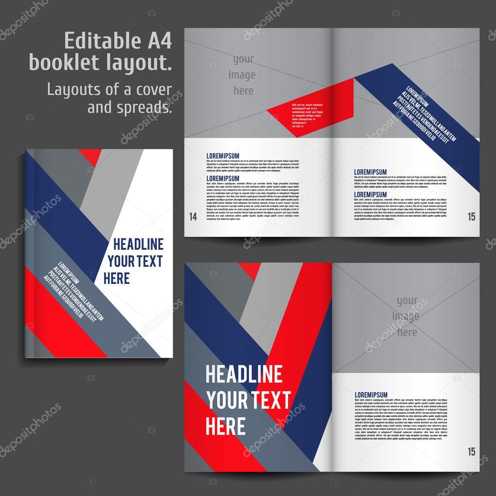 A4-Buch-Layout-Design-Vorlage — Stockvektor © mashabr #81645960