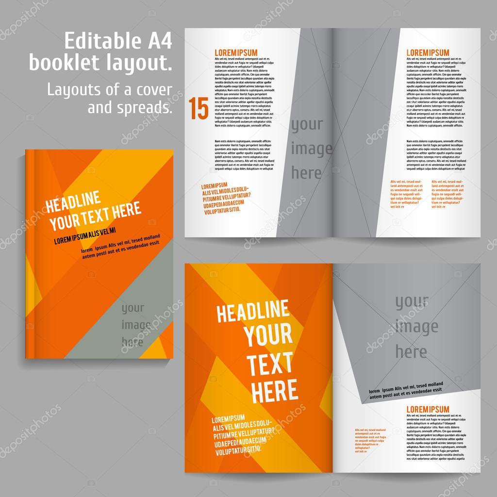 A4-Buch-Layout-Design-Vorlage — Stockvektor © mashabr #82147738
